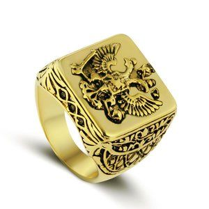 Men's Double Eagles Russian Empire Gold Ring